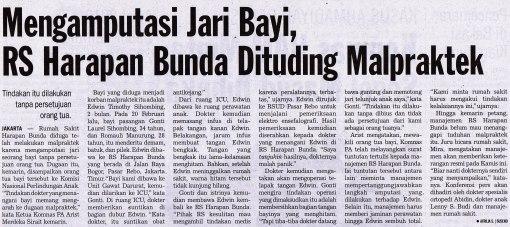 Begini nasib pasien di Indonesia