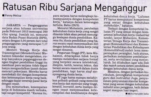 Nasib sarjana di Indonesia
